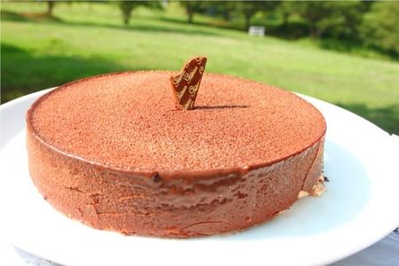 チョコっとバナナなムースケーキ